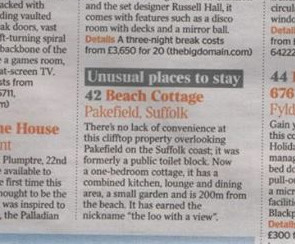 Beach Cottage has made the news