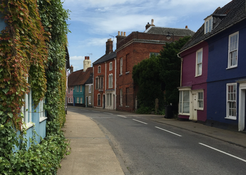 Some of the traditional houses in Bungay, Suffolk
